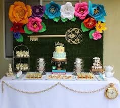 Alice In Wonderland Decoration Ideas Kara U0027s Party Ideas Alice In Wonderland Dessert Table Kara U0027s