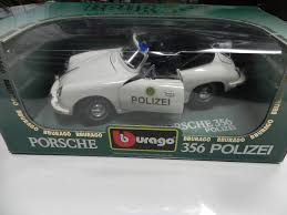police porsche burago 1 18 356 polizei police car aase sales porsche parts center