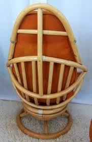 Basket Ottoman by Retro Rattan Swivel Rocker With Ottoman Omero Home