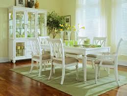 Camden Light Piece Dining Room Furniture Set Leg Table In White - White dining room table set