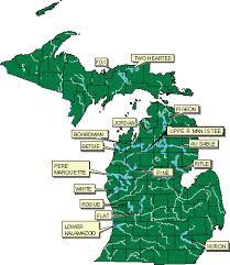 Michigan river map maps pinterest map river and kayaking