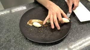 cuisine preparation preparation of a dessert at the 2 michelin sea grill restaurant