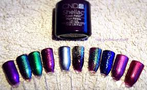 cnd shellac plum paisley combinations youtube