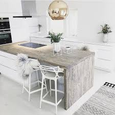 White Kitchen Countertop Ideas by Natural Wood Kitchen Counter Modern Kitchen Design Ideas