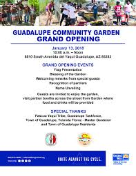 Guadalupe Flag Guadalupe Community Garden Grand Opening Valley Of The Sun