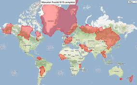 True World Map by The True Size Of In Real Map World Roundtripticket Me