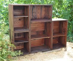 modern book shelf wall unit modular bookcase apple crates