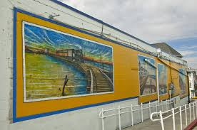 public art projects downtown ocean city md ocdc a mural of trains and the boardwalk in ocean city