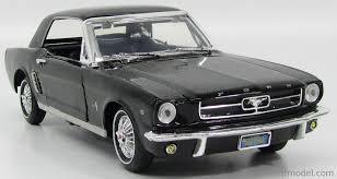 1964 Black Mustang Motor Max 73164bk Scale 1 18 Ford Usa Mustang 1 2 Hard Top 1964