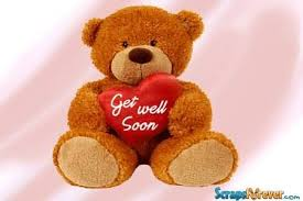 get well soon teddy get well soon teddy with heart graphic images photos pictures