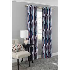 Eclipse Blackout Curtains Walmart Mainstays Helix Blackout Energy Efficient Grommet Curtain Panel