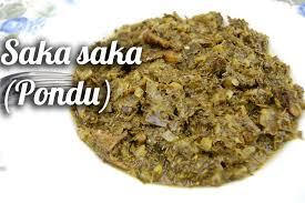 cuisine congolaise brazza saka saka pondu à la morue fumée congo