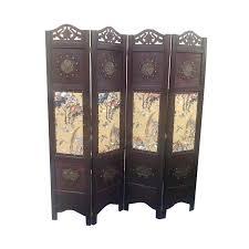 Antique Room Divider by Vintage Oriental Style 4 Panels Screen Room Divider