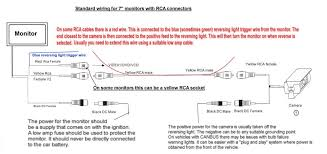 basic rca reversing camera wiring diagram in reversing camera