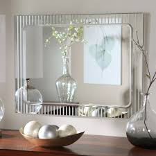 Framed Bathroom Mirror Ideas Colors Tekema Rectangle Frameless Wall Mirror 42w X 30h In Hayneedle