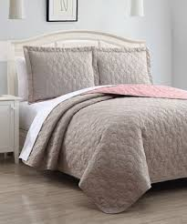 Taupe Coverlet Sleepy Steals Three Piece Quilts Zulily
