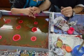 turkish arts turkish arts workshops in istanbul ebru marbling