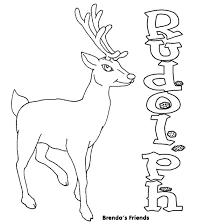 drawn reindeer rudolph red reindeer pencil color