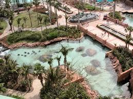 file view of aquarium and pools from royal tower rooms atlantis 2