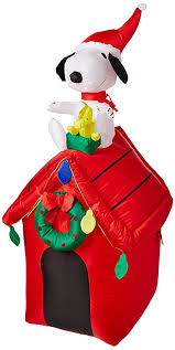 snoopy doghouse christmas decoration gemmy peanuts snoopy airblown 4 doghouse