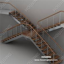 Villa Stairs Design Villa Stairs L Wooden Steps Glass Tread Rod Railings Buy