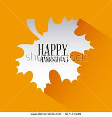 happy thanksgiving card autumn leaf stock vector 517184929