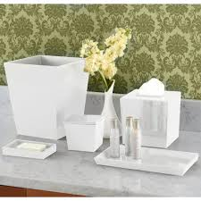 bathroom collections bs spa8w spa white 6 qt hotel wastebasket