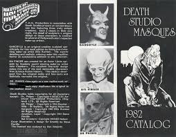 1982 death studios catalog blood curdling blog of monster masks