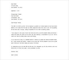 resignation letters for personal reason teacher resignation