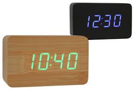 sveglia comodino la sveglia di legno usb dottorgadget