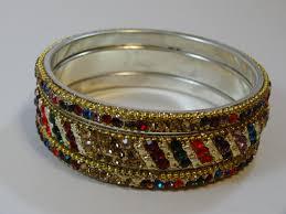 multi color stone bracelet images Multi color fancy stone bangles set jewelberry shack jpg