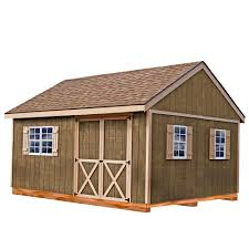 Best Sheds Best Barns New Castle 16 Ft X 12 Ft Wood Storage Shed Kit With
