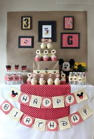 birthday decorations ideas at home mickey mouse birthday party ideas griffin turns three love of