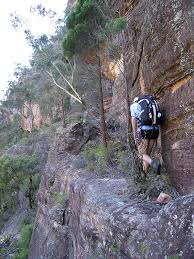 narrow picture ledge glen davis canyoning ozultimate com canyoning