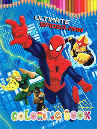 spiderfan org comics ultimate spider man coloring book china
