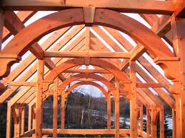 hand build architectural wood framework model house timber frame craftmanship timber frame roof structures
