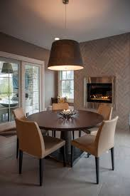 Dining Room Tile by Modern Fireplace Tile Ideas