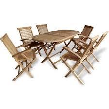 teak 7 piece wooden outdoor dining garden patio furniture folding