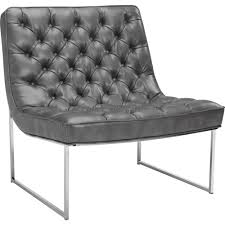 Black Leather Accent Chair Sunpan Accent Chairs Modern Chairs Furniture At Dynamic Home Decor