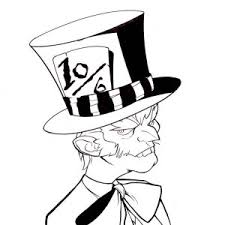 johnny deep mad hatter coloring page johnny deep mad hatter