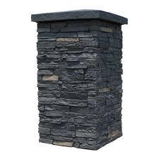 nextstone slatestone onyx 30 in x 16 in faux polyurethane stone