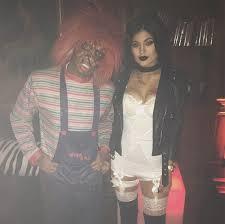 Killer Doll Halloween Costume Kylie Jenner U0026 Tyga Pair Dresses Killer Doll Chucky U0026