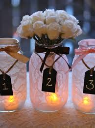 wedding things brides jar wedding reception decor centerpieces lace