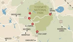 Great Basin National Park Map Which Entrance To Yosemite Should I Take My Yosemite Park