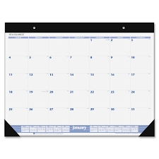 free calendar template desk pad pages 22 x 17 to print blank
