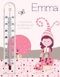 thermomètre mural chambre bébé cadre thermomètre pour chambre bébé fille