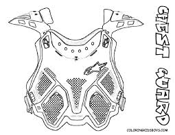 motocross bike gear coloring page dirt bike chest guard at yescoloring mighty