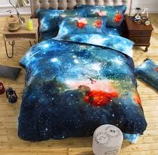3d galaxy bedding sets twin queen size universe outer space themed