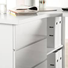 Schreibtisch 1m Eck Schreibtisch Samiera Weiß Hochglanz Weiß Home24