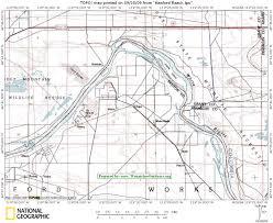 Columbia River Map Hanford Reach Columbia River